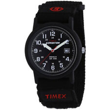 Timex Mens T40011 Quartz Watch With Black Dial Analogue Display and ...