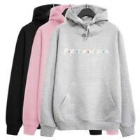 Womens FRIENDS Print Hoodie Hoody Sweatshirt Ladies Pullover Sweaterer Tops