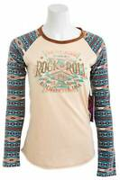 Rock /& Roll Cowgirl Women/'s Black Wanderer High Neck Tank Top 49-6735