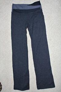 Lululemon Womens Sz 4 Groove Yoga Pants Black Gray Straight Leg Athletic Knit
