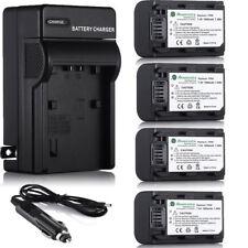 NP-FH50 Battery For Sony DSC-HX1 HX100V HX200V ALPHA A330 A390 A290A230 +Charger