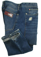 LOVE MOSCHINO Jeans in W38/L36 ( Regular-Carrot ) blue distressed