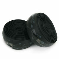 2 New Bike Bicycle Cycling Cork Handlebar Tape Wrap +2 Bar Plug Waterproof Black