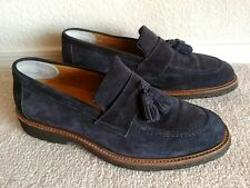 Suitsupply tassel loafers mens shoes sz 6 7 blue suede made in Spain crepe sole