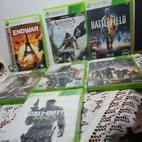 Game lot 7 Xbox 360 games: endwar, assassins creed, battlefield 3, dishonored