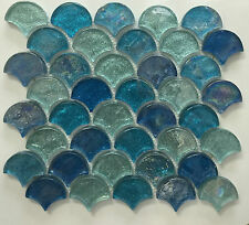 ASLG-15 OASIS EYES Glass Mosaic Tile for Kitchen Backsplash Spa
