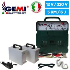 Electric Fence Energiser 12v For Electric Fences 2 Rechargeable Batteries 5km