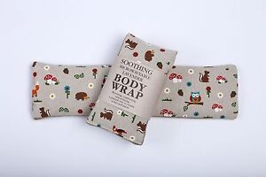 UNSCENTED MICROWAVABLE WHEAT BAG, BODY WRAP FOR WARMTH & RELAXATION