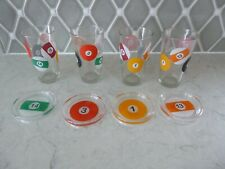 Pool Billiards Ball Design Glassware & Coasters Barware
