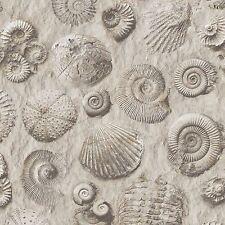 Fósiles conchas Wallpaper-Muriva j86209-Natural