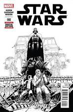 STAR WARS #2 JOHN CASSADAY SKETCH VARIANT 1:100 MARVEL COMICS 2015