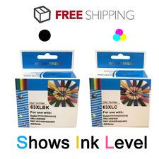 2P Black & Color 63 XL Ink for HP Envy 4512 4516 Deskjet 1110 1112 2130 Printer