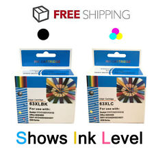 2PK 63XL Black & Color ink cartridge For HP Envy 4520 4526 Officejet 3830 4650