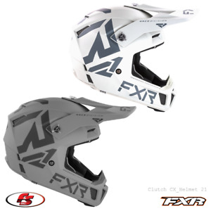 New FXR 2021 Clutch CX Snowmobile Motocross Helmet Steel 2XL