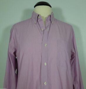 RALPH LAUREN Pink With White Stripes Collared Dress Shirt Men's size 15 1/2