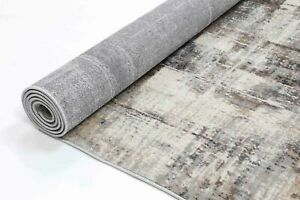 Tadley Grey Beige Abstract Transitional Rug Runner 80x300cm **FREE DELIVERY**