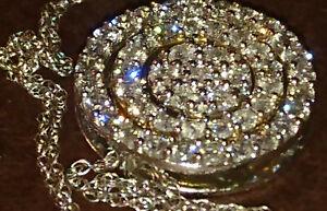 Anhänger mit Kette Brillant Goldkette 49 Diamanten Aussetzung Gold-Anhänger