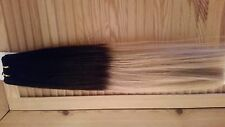 """22"""" OMBRE WEAVE/WEFT #1B/20 SUPER DELUXE 150G 5A GRADE HUMAN REMY HAIR UK SELLER"""