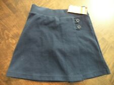 Girls Cat & Jack Navy 2-Button Side Uniform Skort Size Xs 4/5
