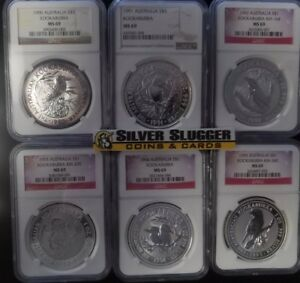 29 Coin 1990-2018 Australian Kookaburra NGC MS69 1 oz silver set