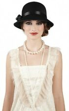 Charleston lady Cappello Nero per 20s Flapper Costume Accessorio