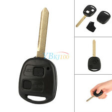 2-Button Remote Uncut Replacement Car Entry Key Shell Case Fob For Toyota Yaris