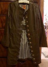 Tory Burch Cordelia Leather Coat Brown Size 6 EUC Worn 3x