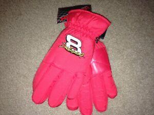 Vintage Action Dale Earnhardt Bud Racing Nylon lined Gloves OSFA NWT Nascar