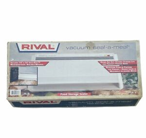 Rival | Vacuum Seal-A-Meal | Food Storage Sealer | 11001 W | w/ 10x10 Roll | NOS