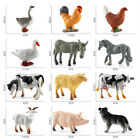 12Pcs Mini Farm Animal Toys Action Figures Bundle Playset For Toddlers And Kids