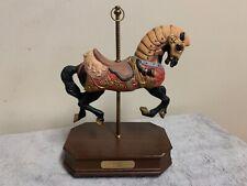 "Carousel Horse Figurine Music Box Ltd Edition c1911 Impulse Giftware ""Looff"""
