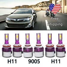 For Toyota Camry 2007-2014 9005 H11+H11 LED Headlight Hi Lo Beam Fog DRL Light