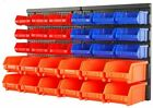 30 Bin Small Parts Organizer Garage Storage Wall Mounted Screws Bolts Nuts