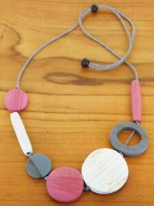 Mixed Shape Wooden Necklace