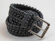 Paracord Survival Belt - Grey with Nickle Buckle - S M L XL