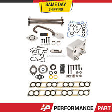 EGR Delete Kit Engine Oil Cooler w/ Gaskets Kit for Ford 6.0L V8 Diesel Turbo