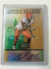 2012 Leaf Valiant ANDRE BRANCH Rookie AUTO green/gold MINT