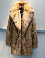 Mens Fur Overcoat Occident Formal Long Sleeve Warm Outwear Coat Casual Jacket sz