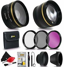 72mm Lens and Filters Accessory Bundle Kit Filters + More