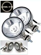 "ANGEL EYE ICE WHITE PAIR 12V CAR 2X 6"" CHROME SPOTLIGHTS 4X4 BOAT SPOT LIGHT VAN"