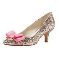 Women's Low Kitten Heel Pumps Pointed Toe Slip On Dress Party Shoes Size 6-10