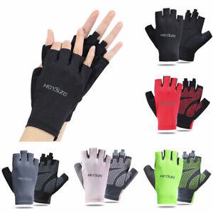 Unisex Half-Finger Sports Gloves Anti-Slip Anti-Sweat Glove Spandex Rider Gloves