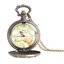 Vintage Big 12 Constellation Map Quartz Pendant Chain Fob Pocket Watch Gift