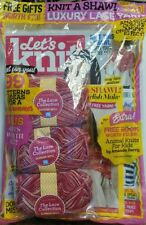 Let's Knit UK Issue 121 Aug 2017 Luxury Lace Yarn 99 Patterns FREE SHIPPING sb