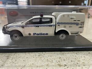 Ford Ranger paddy Wagon NSW Police. 1:43 Scale Resin Model Brand New  By Trax