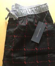 TOMMY HILFIGER Mens Pyjama Bottoms - Size XL - Black / Red Logo - BNWT