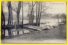 cpa FAYE le CHÂTEAU (Puy de Dôme) ÉTANG de LA JARRIGE près BILLOM Pont Bateau