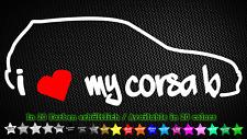 I Love My CORSA B OPEL GSI 16v EDM Adesivi Sticker 20cm x 7cm