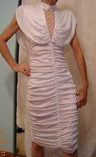 Woman's white Australian pleating evening dress