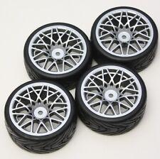 R/C  Sport 1/10 Scale Rims and Tires RC Car Pre-Glued !  4 Tec HPI